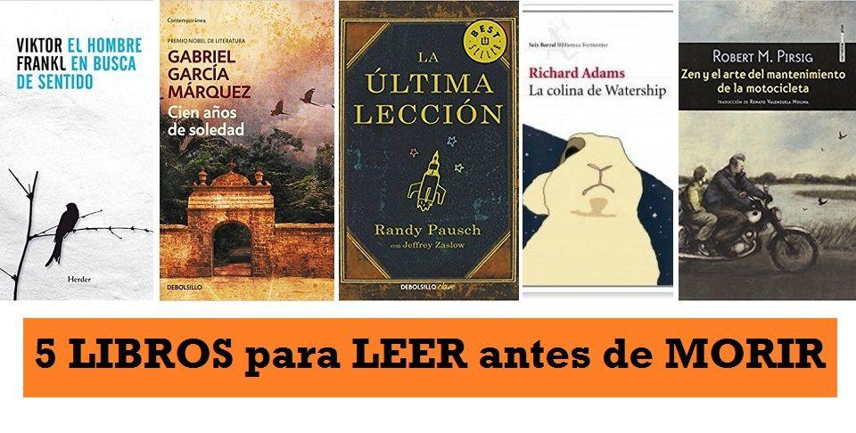 Libros Leer Antes de Morir